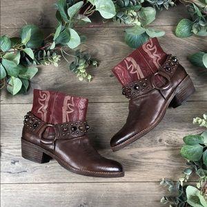 Sam Edelman Skyler Cognac Leather Booties (Size 7)